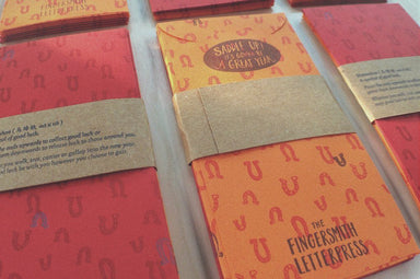 Horseshoe Red Packets (Pack of 6) Red Packets The Fingersmith Letterpress