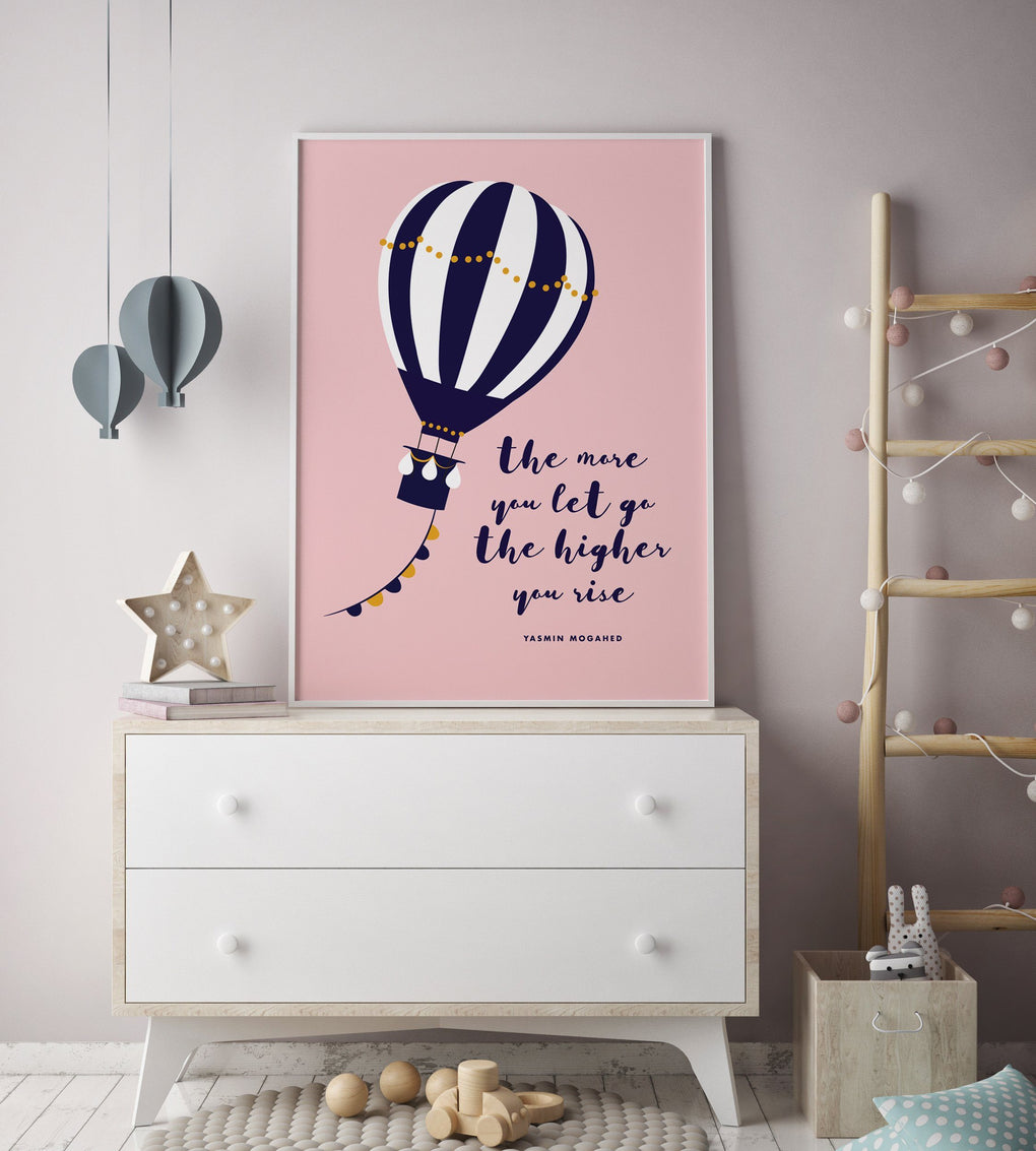Hot-air Balloon Print Kids Prints Poppetry