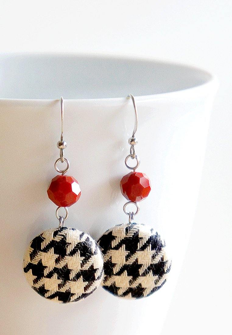 Houndstooth Dangle Earrings Earrings Paperdaise Accessories