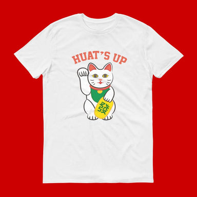 Huat's Up Crew Neck S-Sleeve T-Shirt (Pre-Order) - Local T-shirts - Wet Tee Shirt - Naiise