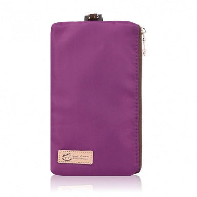 Uma hana Premium Monochrome Handphone Pouch with Lanyard Purple - Women's Wallets - Iluvo - Naiise