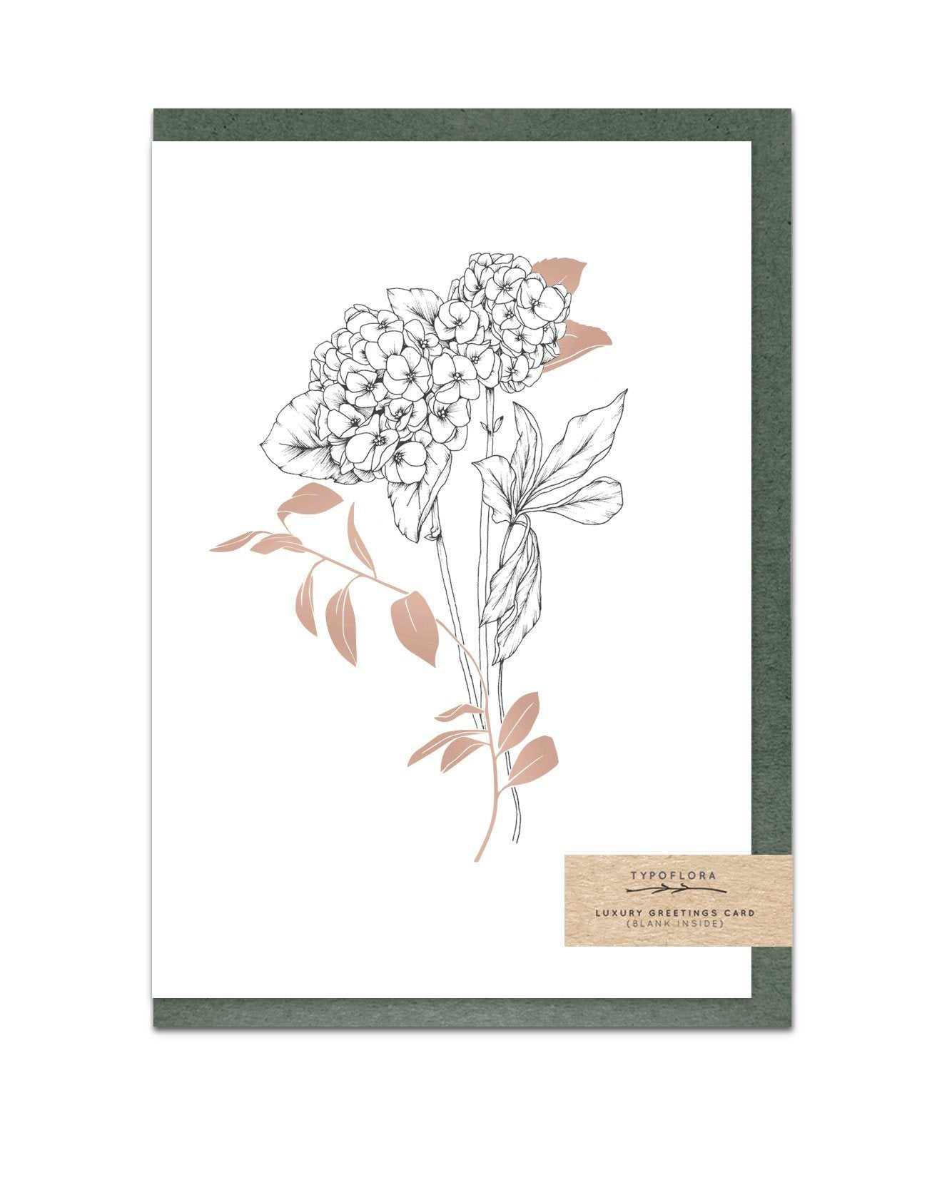 Hydrangeas Enchanted Garden Notecard - Generic Greeting Cards - Typoflora - Naiise