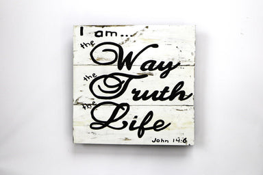 I Am The Way, The Truth, The Life Wall Art - WSS017 Art RAW
