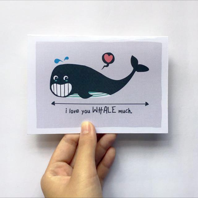 I Love You Whale Much Card Love Cards TispyTopsy