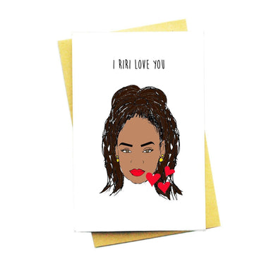 I Riri Love You Greeting Card - Love Cards - Nocturnal Paper - Naiise
