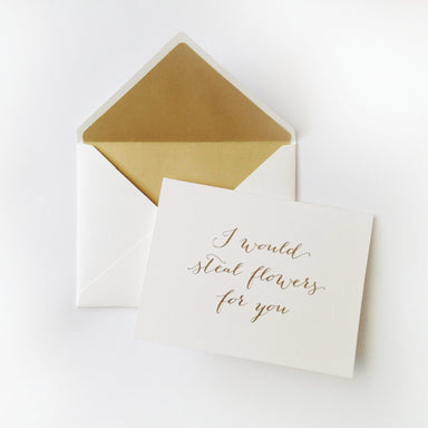 I Would Steal Flowers Sweet Talk Card - Love Cards - The Little Talks - Naiise