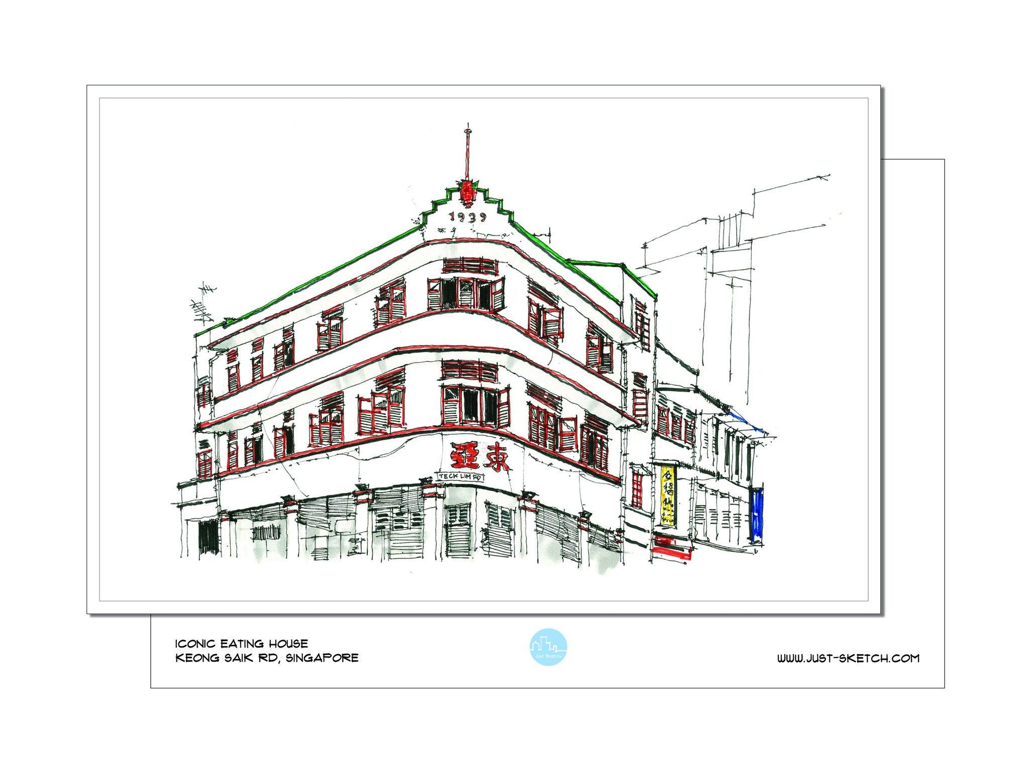 Iconic Eating House Postcard - Local Postcards - Just Sketch - Naiise