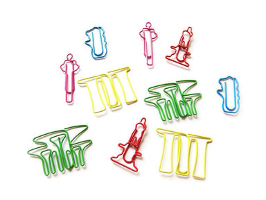 Icons Paper Clip Set Local Stationery LOVE SG