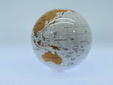 Revolving Globe - White - Home Decor - The Planet Collection - Naiise