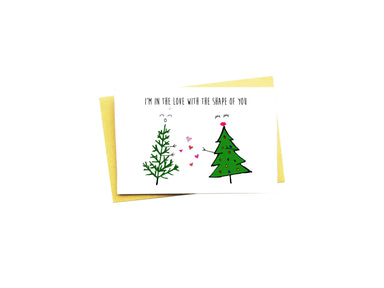 I'm In Love With The Shape Of You Christmas Card - Christmas Cards - Nocturnal Paper - Naiise