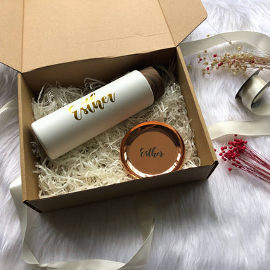 Personalised Luxe Gift Set II - Thermos & Trinket Dish Personalised Gift Boxes Coxo Vanessa