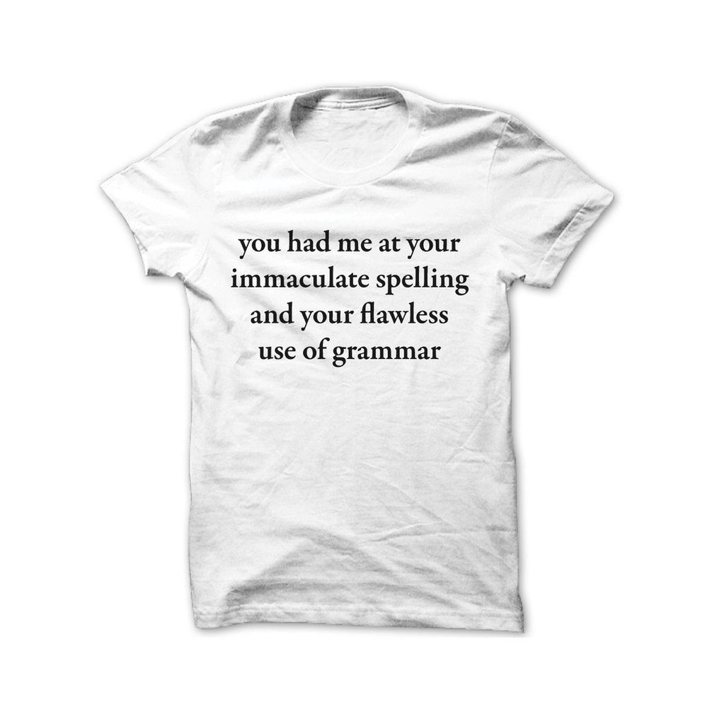 Immaculate Spelling T-Shirt T-shirts Statement