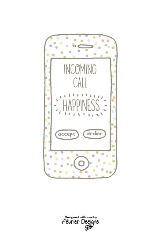 Incoming Call Happiness Card Love Cards Fevrier Designs