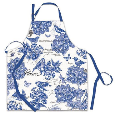 Indigo Cotton Apron Aprons Michel Design Works