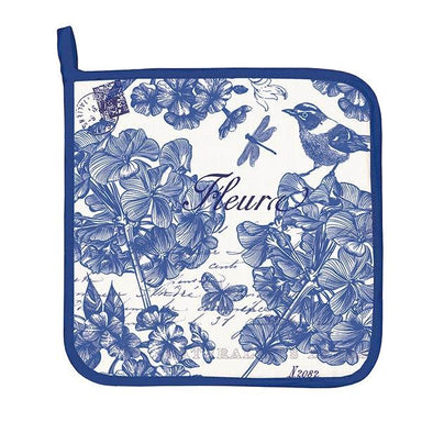 Indigo Cotton Potholder Cooking Utensils Michel Design Works