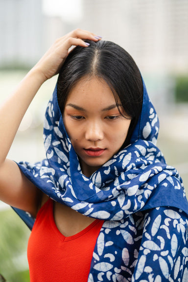 Indigo Self Expression Scarf Scarves La Tierra