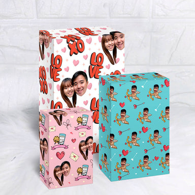 [3pcs Bundle] Face Wrapper - Personalised Gift Wrappers - Us The Creators - Naiise