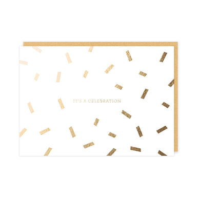 It's A Celebration Card (Gloss Gold Foil) Congratulations Cards Pine on Paper