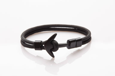 J. By Jee Basic Black Anchor Bracelet - Men's Bracelets - J By Jee - Naiise