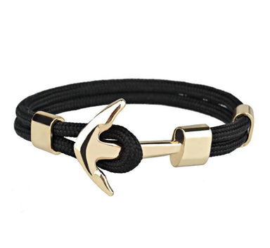 J. By Jee Basic Gold Anchor Bracelet Men's Bracelets J By Jee 19cm
