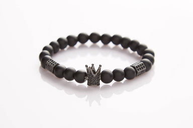 J. By Jee Black Crown Bracelet - Men's Bracelets - J By Jee - Naiise
