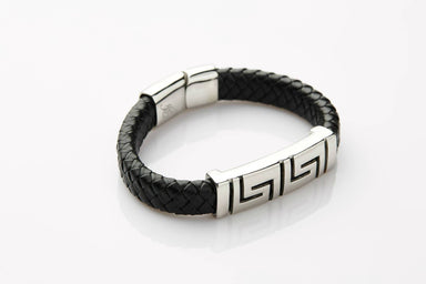 J. By Jee Asian Geometric Steel Band Bracelet - Men's Bracelets - J By Jee - Naiise