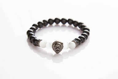 J. By Jee Black Lion Head Beads Bracelet - Men's Bracelets - J By Jee - Naiise