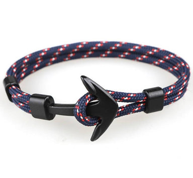 J. By Jee Blue Stripe Anchor Bracelet - Men's Bracelets - J By Jee - Naiise