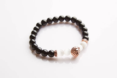 J. By Jee Rose Gold Lion Head Beads Bracelet (JBJ-20190008-RGD) Men's Bracelets J By Jee