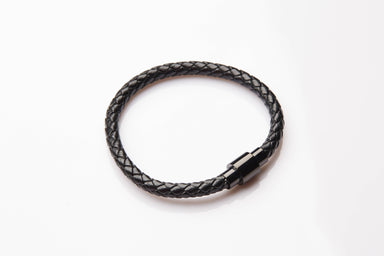 J. By Jee Stainless Steel Magnetic Buckle Bracelet (JBJ-20190003-LTRBLK) Men's Bracelets J By Jee