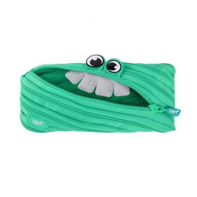 Zipit Party Monster Pouch Green - Pencil Cases - Zigzagme - Naiise