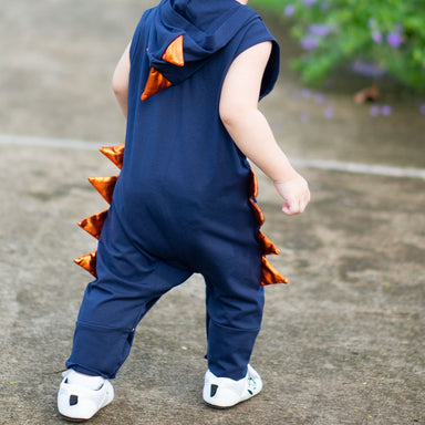Jacob Dino Jumpsuit in Navy Blue Kids Clothing Anak & I
