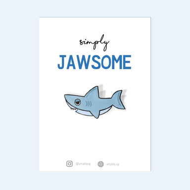 Jawsome Pin Badge - Pins - Artably - Naiise