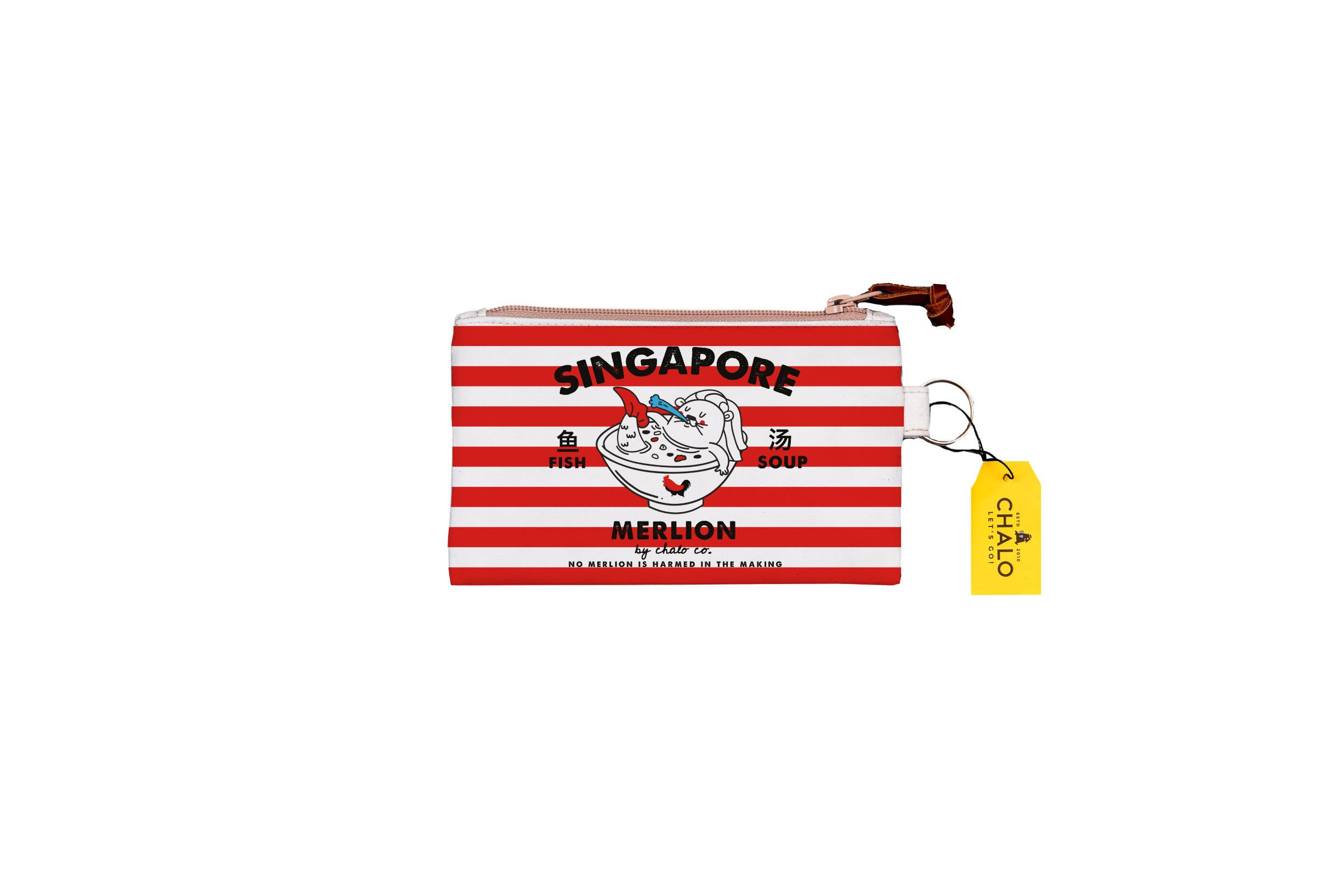 SG Merlion Fish Small Pouch - Local Pouches - Chalo - Naiise