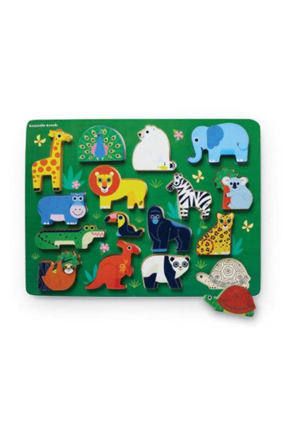 16 Pc Wood Puzzle/ Zoo - Kids Puzzles - The Children's Showcase - Naiise