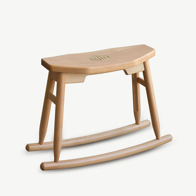 JIA JU Rocking Stool Natural Beech Seating SCENE SHANG