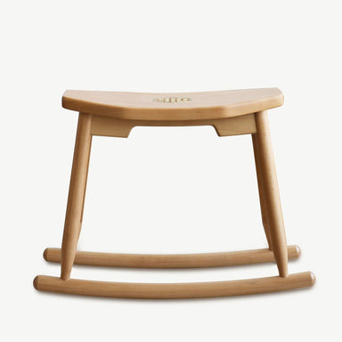 JIA JU Rocking Stool Natural Beech (Pre-Order) - Seating - SCENE SHANG - Naiise