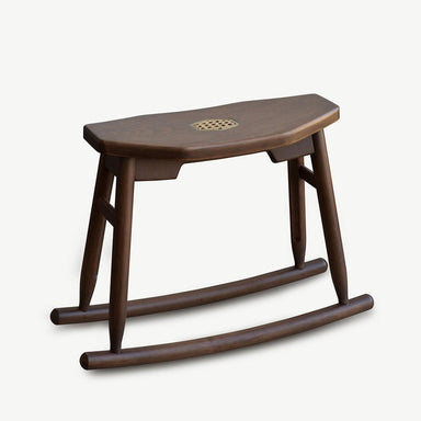 JIA JU Rocking Stool Walnut Seating SCENE SHANG