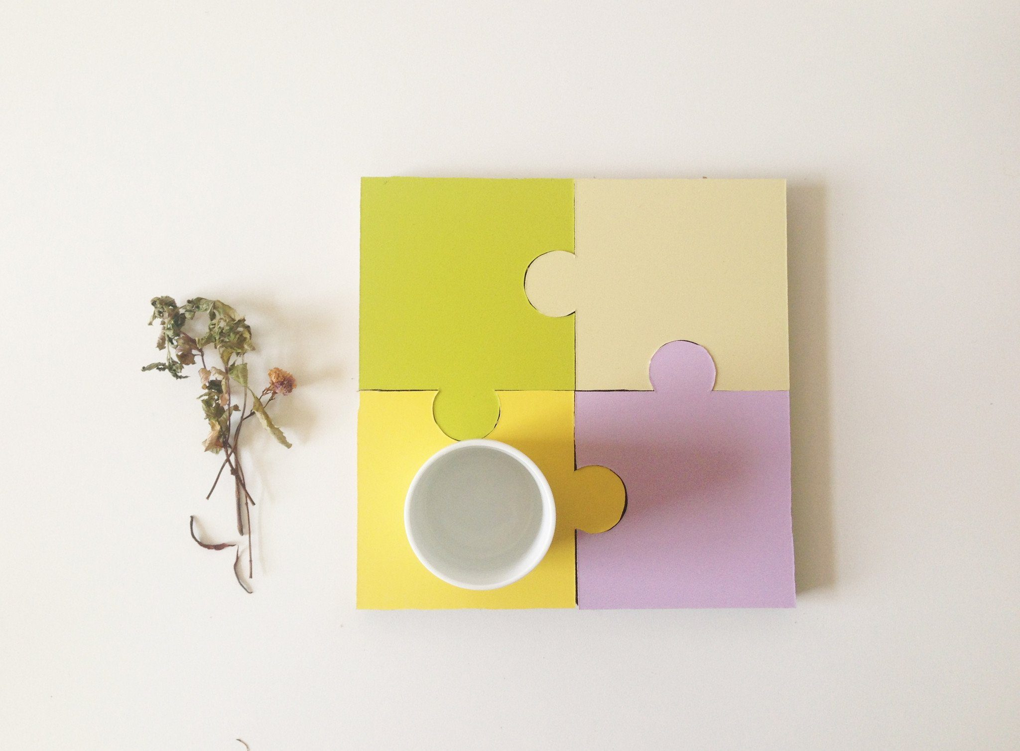 Jigsaw Coasters (Set of 4) - Coasters - Naiise - Naiise