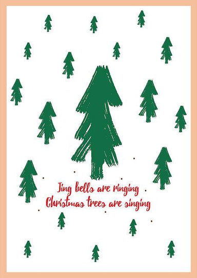 Jingle Bells are Ringing Greeting Card Christmas Cards The Paper Happiness