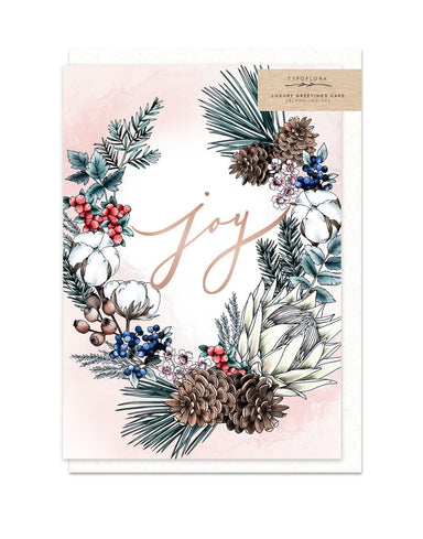 Joy Card - Christmas Cards - Typoflora - Naiise