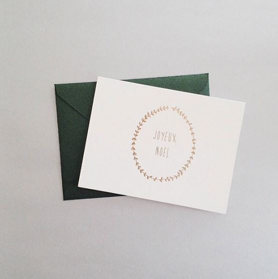 Joyeux Noel Card Christmas Cards The Little Talks