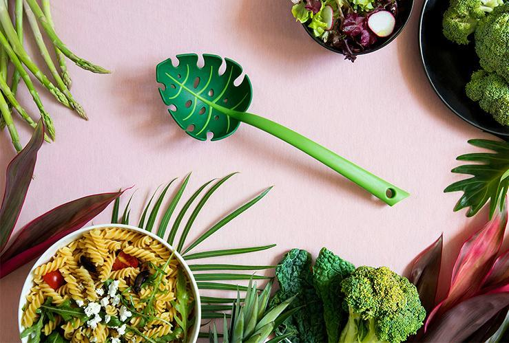 Jungle Spoon Slotted Serving Spoon Cooking Utensils Ototo