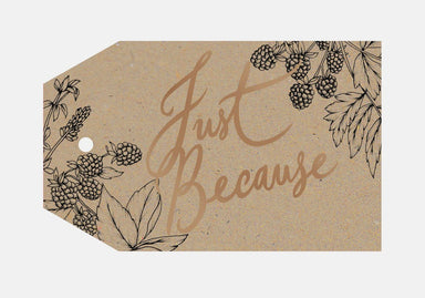 Just Because Gift Tag Gift Tags Typoflora