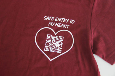 Safe Entry to My Heart Tshirt - Local T-shirts - Charicia Wonderland - Naiise