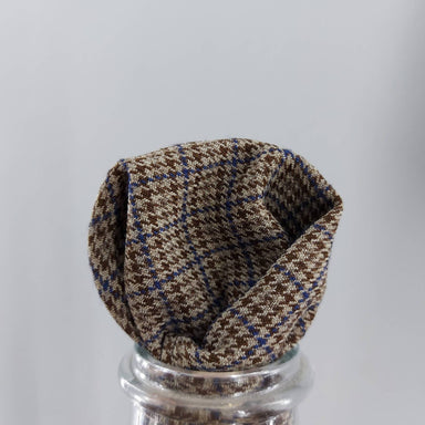 Pocket Square - Brown Houndstooth - Pocket Squares - Tuesday Evening - Naiise