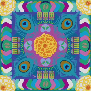 Kaleidoscopic Splendors of Little India Scarf Local Scarves Binary Style