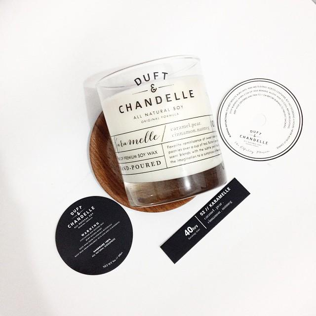Karamelle Candle Scented Candles Duft and Chandelle