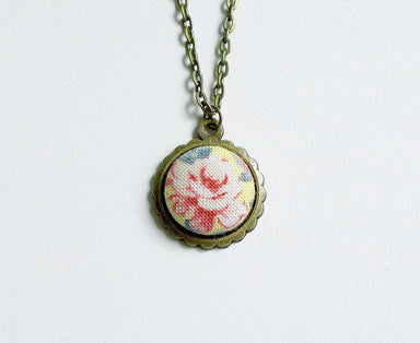 Karina Rose Handmade Fabric Button Necklace - Necklaces - Paperdaise Accessories - Naiise