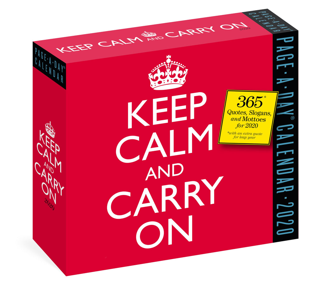 Keep Calm and Carry On Page-A-Day Calendar 2020 Calendars Workman Calendars